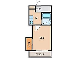 ホワイトハウス1号館[4階]の間取り