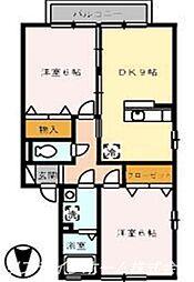サンセールB棟[2階]の間取り