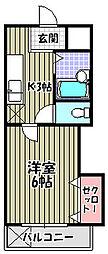 ラフォーレ中之町[3階]の間取り