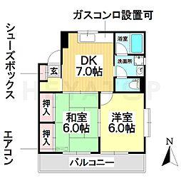 愛知県名古屋市瑞穂区浮島町の賃貸マンションの間取り