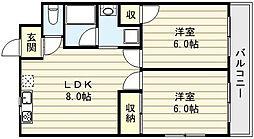 かねまつ南巽マンション[3階]の間取り