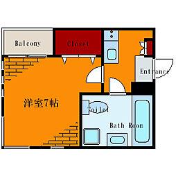 東京都墨田区東向島4丁目の賃貸アパートの間取り