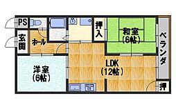 ファミーユTAKADA[201号室]の間取り
