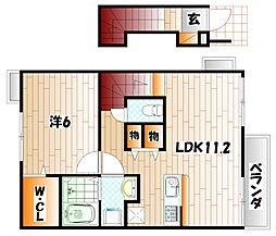 クリスマスローズIII[2階]の間取り