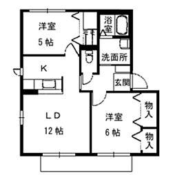 シャーメゾンブルーム[B203号室]の間取り