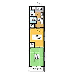 愛知県名古屋市港区当知1の賃貸マンションの間取り