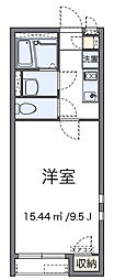 東京都足立区青井2丁目の賃貸アパートの間取り