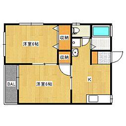 リンクス6[1階]の間取り