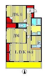 カーサ・ドルチェ[6階]の間取り