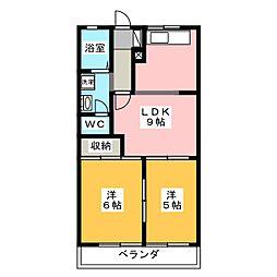 メープルタウン A[2階]の間取り