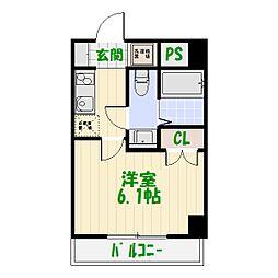 ライジングプレイス綾瀬三番館[607号室]の間取り