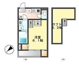 HARUmaison[2階]の間取り