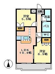コンフォート[1階]の間取り