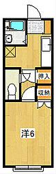 VILLA SUZUKI[210号室]の間取り