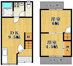 [テラスハウス] 大阪府松原市東新町5丁目 の賃貸【/】の間取り