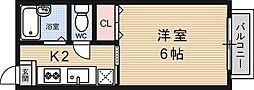 ヴィラプリムローズ[201号室号室]の間取り