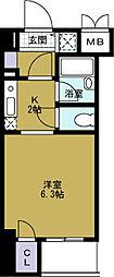 ベルシモンズ大阪港[8階]の間取り