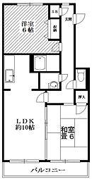東京都世田谷区上用賀5丁目の賃貸マンションの間取り