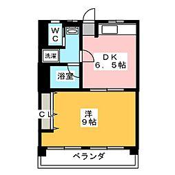 新開地ビル[2階]の間取り