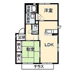 ディアスWING[2階]の間取り