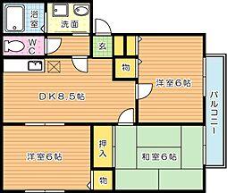 コーポ高須 A棟[1階]の間取り