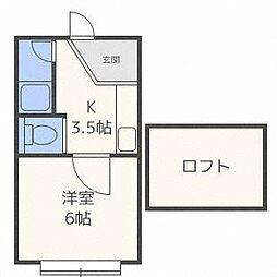 アップルハウス南郷7[2階]の間取り