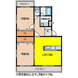 レジェン志邑[3階]の間取り