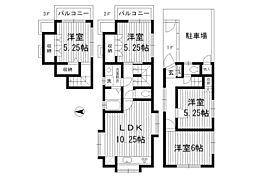 [一戸建] 東京都中野区松が丘2丁目 の賃貸【/】の間取り