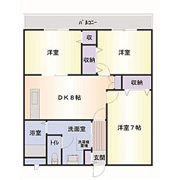 ラベニューモリ2番館[3階]の間取り