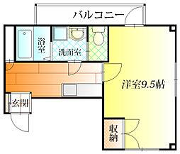 B.L  NAKANO[3階]の間取り