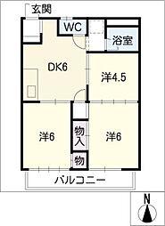 アーバンストン1・2・3[2階]の間取り