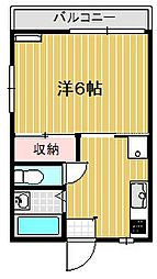 松本アパート[201号室]の間取り