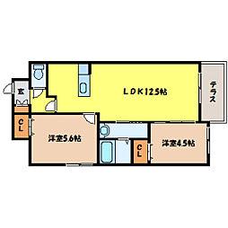 北海道札幌市白石区平和通13丁目の賃貸マンションの間取り