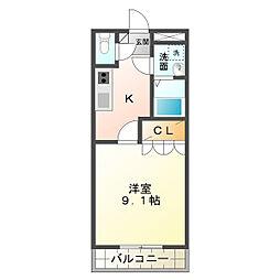 ラポール和田[1階]の間取り
