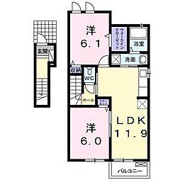 フランベルA(高岡町)[2階]の間取り