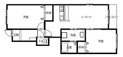 長与町新築アパート(仮)[103号室]の間取り