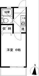 ラベンダー湘南3[1階]の間取り