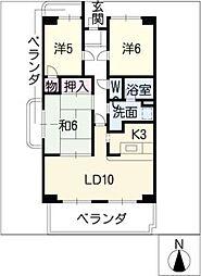 レジデンスモリ[3階]の間取り