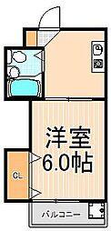 ヴィレッジ東和[2階]の間取り