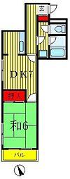 共栄マンション[2階]の間取り