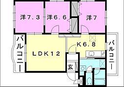 ブライムマンション-1[301 号室号室]の間取り