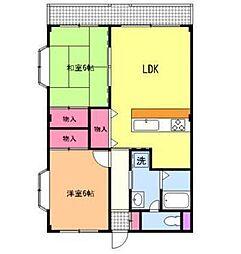 第二ロイヤル島田[2階]の間取り