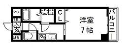荒本駅徒歩3分 ゼファー・東大阪[3階]の間取り