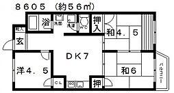 SAMURAIマンション(サムライマンション)[203号室号室]の間取り