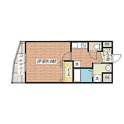 さとみマンションII[4階]の間取り