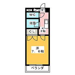 コロナハイツA棟[3階]の間取り