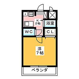 WING・カチガワ[3階]の間取り