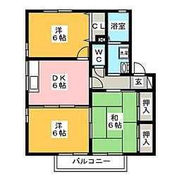 エクセレントシルヴィア C棟[1階]の間取り