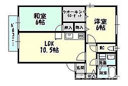 [タウンハウス] 福岡県糟屋郡志免町別府3丁目 の賃貸【/】の間取り