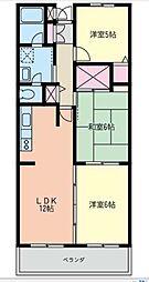 神奈川県大和市渋谷1丁目の賃貸マンションの間取り